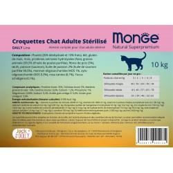 Sterilised Etiquette autocollante Chat 10 kg