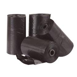 Ramasse crottes 4 rouleaux noirs de 20 sachets