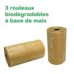 Ramasse crottes 3 rouleaux biodégradables x 10 sachets