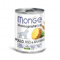 Monge Dog Fruit 400grs x 24 Poulet, riz et ananas