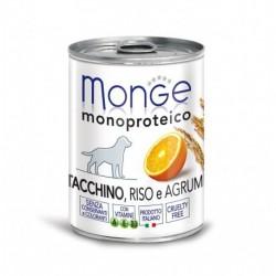 Monge Dog Fruit 400grs x 24 Dinde, riz et agrumes