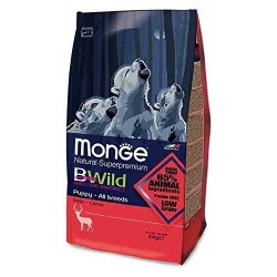 Croquette Monge Chiot PUPPY  BWild Low Grain Cerf 12 kg