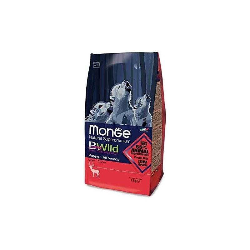 Croquette Monge Chiot PUPPY  BWild Low Grain Cerf 12 kg