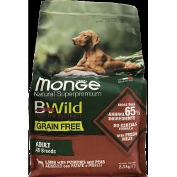 Agneau Adult 2,5 kg Bwild Grain Free Monge