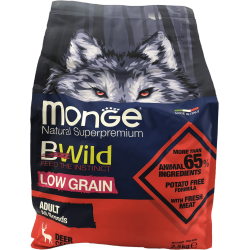 Cerf Adult 2,5 kg Bwild Low Grain Monge