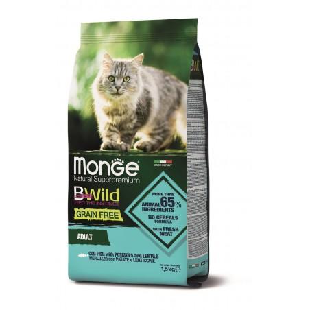 Chat Morue Bwild Grain Free 1,5 kg