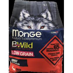 Cerf Adult 12 kg Bwild Low Grain Monge